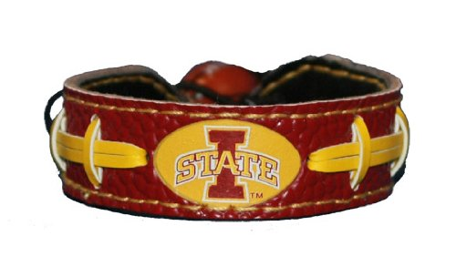 Iowa State Cyclones Primary Athletic Mark Logo Team Color Football Bracelet (Team Logo Bracelet)