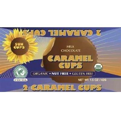 SunCup Sunflower Butter Cups - Milk Chocolate Caramel - 1.5 oz - Case of 12