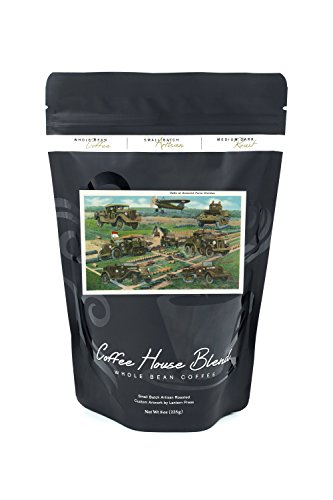 Fort Knox, Kentucky - View of the Units of the Armored Force Division, Tanks and Trucks (8oz Whole Bean Small Batch Artisan Coffee - Bold & Strong Medium Dark Roast - Batch Unit