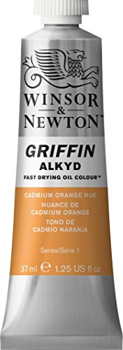 Winsor & Newton Griffin Alkyd Fast Drying Oil Color Tube, 37ml, Cadmium Orange Hue by Winsor & Newton