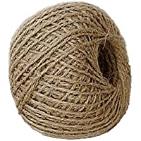 Foyojo Soft 300Feet Natural Jute Twine String Rope Art...
