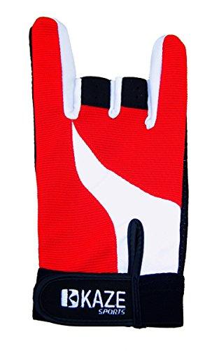 Kaze Sports Premium Bowling Glove (Red, Large)