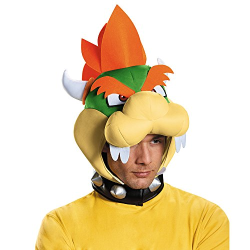 Bowser Costume Accessories (Disguise Men's Bowser Headpiece Costume Accessory - Adult, Multi, One Size)