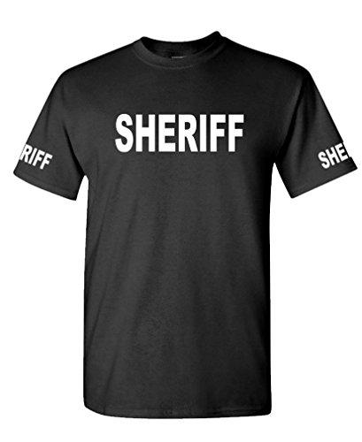 The Goozler Sheriff - Law Enforcement Duty Police cop - Mens Cotton T-Shirt, M, Black]()