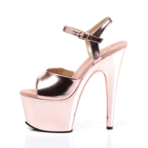 free shipping fast delivery Pleaser Women's Adore-709/W/M Platform Sandal Rose Gold Met. Pu/Rose Gold Chrome wide range of cheap online sale browse free shipping cheapest price fGnt4Ln