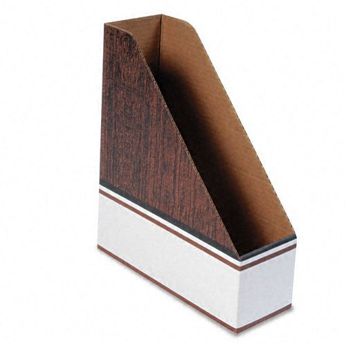 Bankers Box Magazine Files - Oversized Letter - Blue, Wood Grain, White - Cardboard - 12 / Carton by Bankers Box®