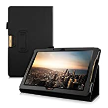 kwmobile Elegant synthetic leather case for Acer Iconia Tab 10 (A3-A40) in black with convenient STAND FEATURE