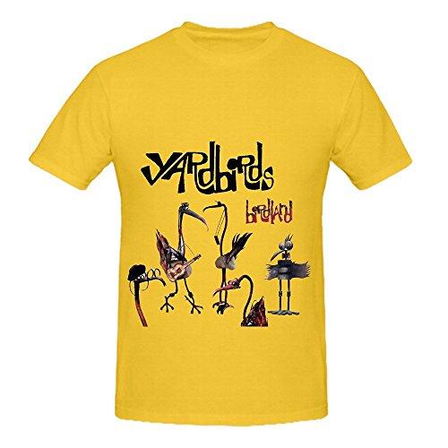 The Yardbirds Birdland 80s Mens O Neck Funny Shirts Yellow