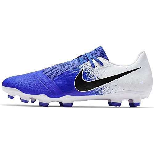 Nike Phantom Venom Academy FG Soccer Cleat (White/Racer Blue) (Men's 6.5/Women's -