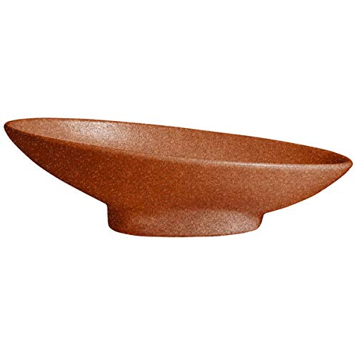(G.E.T. Enterprises BO204T Bugambilia 1.4 Qt. Classic Textured Finish Terracotta Resin-Coated Aluminum Deep Large Oval)