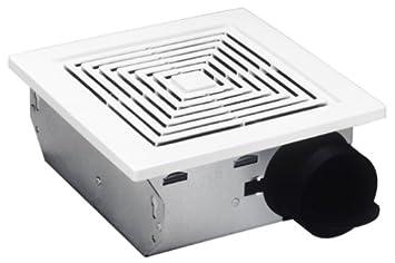 Broan Ventilation Fan, White Square Ceiling or Wall-Mount Exhaust Fan, 4.0 Sones, 50 CFM