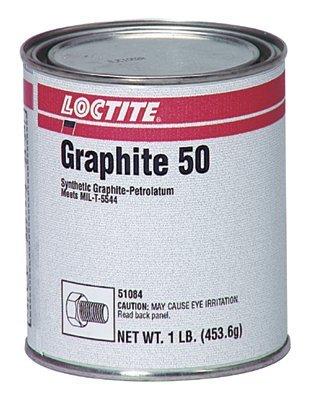 Loctite 51084 Graphite 50 Synthetic and Petrolatum Anti-Seize, 1 lbs Can, Black by Loctite