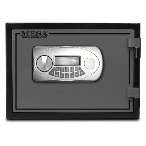 Mesa Safe MESA MF30E U.L. All Steel Classified Fire Safe with Electronic Lock, 0.4-Cubic Foot, Black and Grey