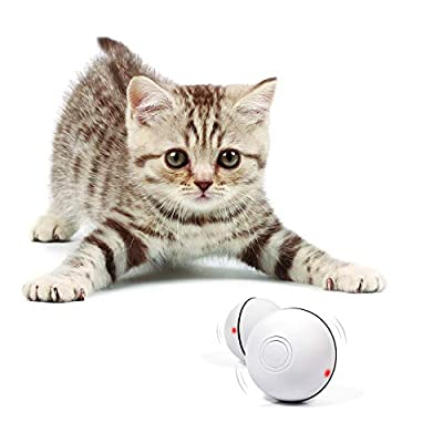 YOFUN Smart Interactive Cat Toy – Newest Version 360 Degree Self Rotating Ball, USB Rechargeable Pet Toy, Build-in…