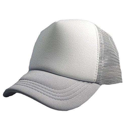 [DZT1968 Men women summer Casual Mesh Baseball Cap Adjustable Sun Hat (Gray)] (Cute Halloween Gifts For Coworkers)