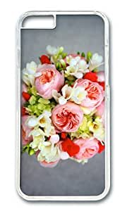 Peony freesia hydrangea flowers bouquet PC Transparent Hard Case for Apple iPhone 6(4.7 inch)