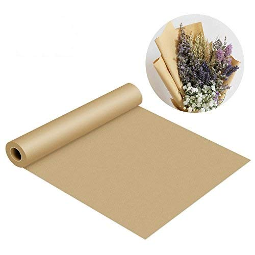 Korean Paper Art - MICGEEK Kraft Paper Roll-30''x1200''(100ft) Brown Butcher Paper FDA Approved 100% Recycled Materials Great for Gift Wrapping, Packing, Craft, Art, Kids Canvas, Banquet