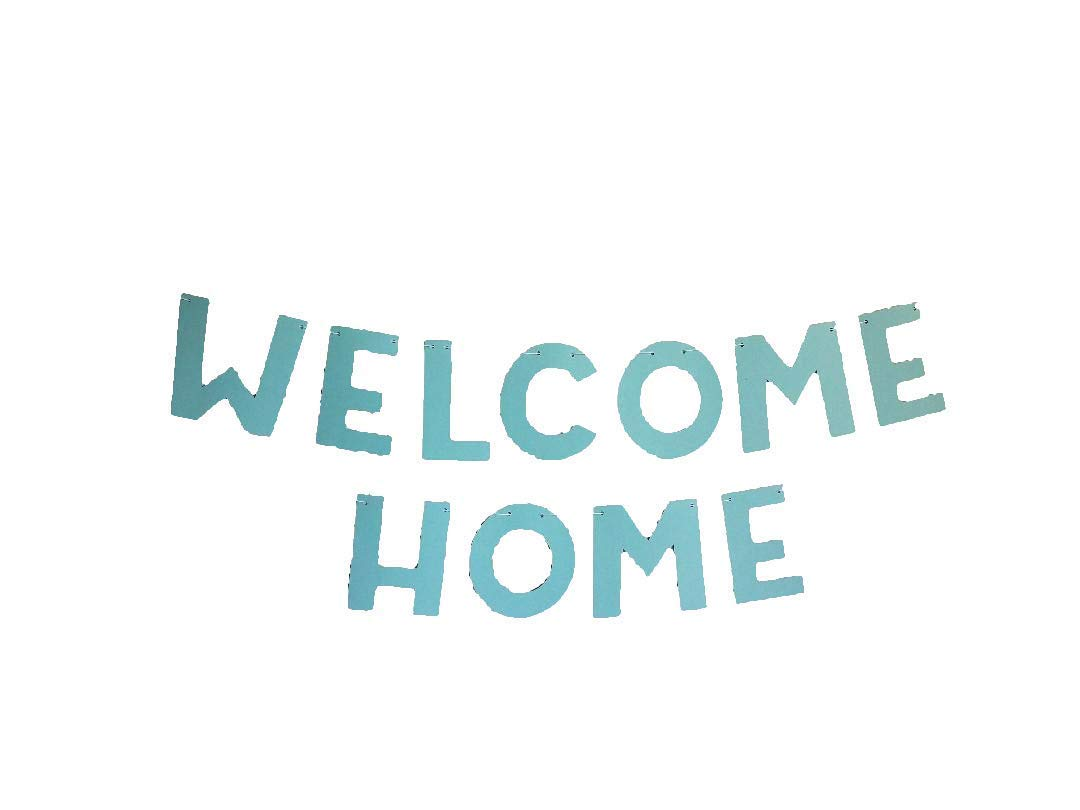 Teal Welcome Home Banner Handmade by Forever Oh So Crafty