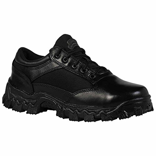 Rocky Men's Alpha Force Oxford Work Boot,Black,8.5 W US (Leather Alpha Boot)
