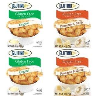 Glutino Gluten Free Bagel Chips Variety Pack (2 Original, 2 Parmesan Garlic)