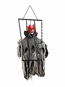 Animated Insane Hanging Clown with Chains [74212]