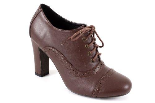 Andres Machado. AM544.Zapatos en Soft de diferentes colores Estilo Oxford.Señora.Tallas Pequeñas de la 32 a la 35. Tallas Grandes de la 42 a la 45. Marron