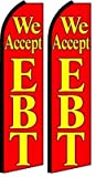 Cheap Two We Accept EBT Feather Banner Flags (Complete Kits)