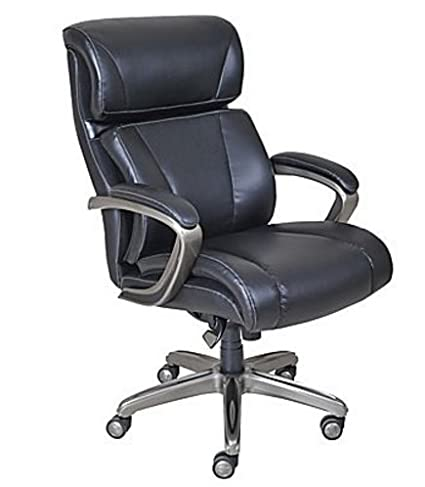 La Z Boy Nexus Bonded Leather Executive Chair, Black