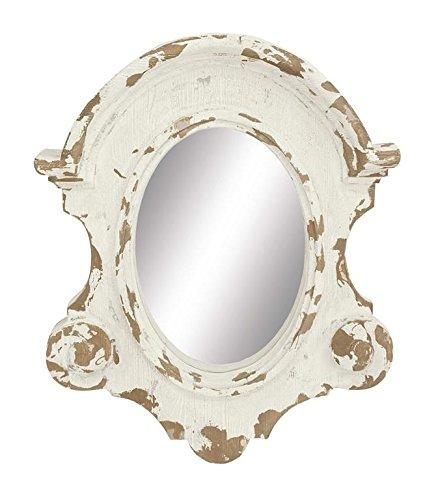 Deco 79 Fiberglass Wall Mirror, 35 by 43-Inch