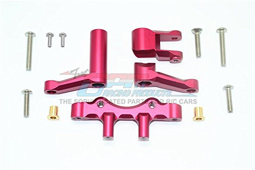 GPM Losi 1/6 Super Baja Rey 4X4 Desert Truck Upgrade Parts Aluminum Steering Assembly - 1 Set Red - Gpm Steering Assembly