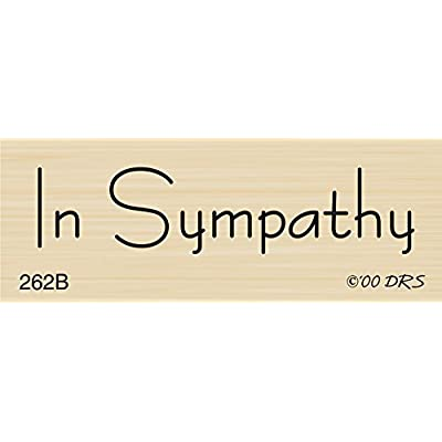 1 Line in Sympathy Rubber Stamp by DRS Designs: Home & Kitchen