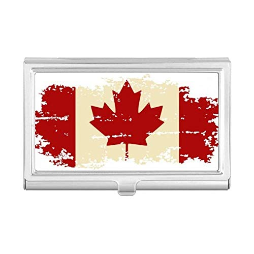 Canandian Flag and Maple Leaf Business Card Holder Case Wallet