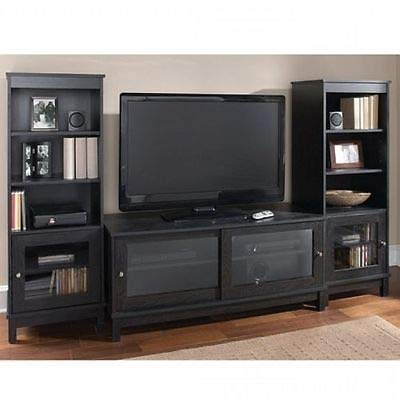 rge TV Stand Home Entertainment Media Center Flat Screen TV Table Shelves Wooden Cabinet Theater Storage 2 Side Pier Towers TV Cabinet Durable Living Room Furniture 55