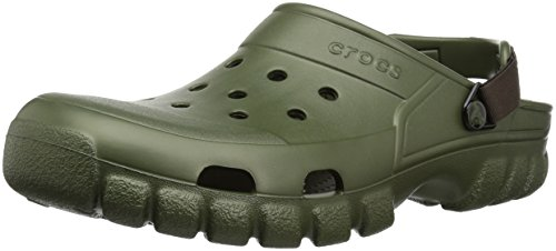 (Crocs Unisex-adult Offroad Sport Clog, Army Green/Espresso, 11 US Men/ 13 US Women M US)