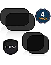 BOFAA Car Window Shade for Baby (4 Pack) 80GSM Cling Car Sun Shade for Side window - Sun, Glare And UV Rays Protection For Your kids - 2 Pack 51 * 31CM and 2 Pack 44 * 36CM Sunshade for Car Baby
