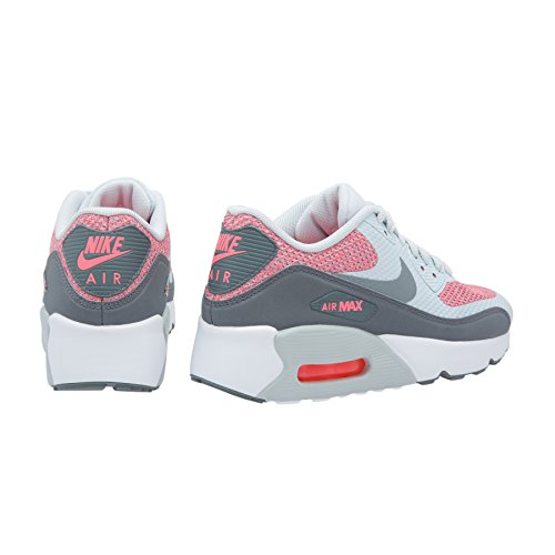 Nike Big Kids Air Max 90 Leder Laufschuhe Reines Platin Cool Grey 001