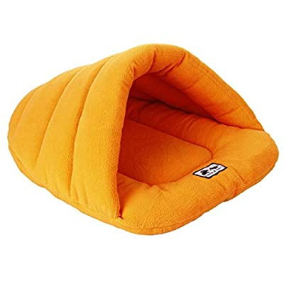 Whatyiu Pet Bed House Soft Nest for Cats Dog Pet Supplies & Warm Soft Slipper Shape Cat Dog Sleeping Bag Autumn Winter Pet Nest House Kennel