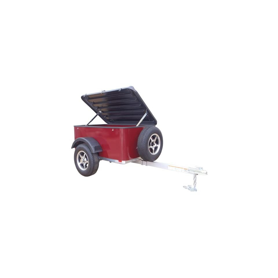 Hybrid Trailer Co. Vacationer with Spare Tire   Enclosed Cargo Trailer, 990 lbs. Gross, 30 cu/ft.   Black Cherry