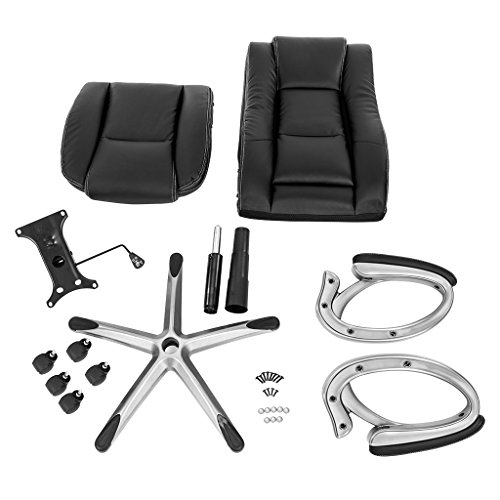 LANGRIA High-Back Executive Office Chair Black Faux Leather Computer Chair, Modern and Ergonomic Design, Well-Padded Armrests, Adjustable Seat Height, Knee Tilt Mechanism, 360 Degree Swivel, LROC-7263 Photo #2