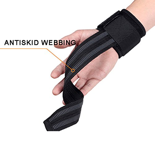 Fitness Force Power Lifting Wrist Supports Assist Grip Strength weight lifting strap, Big Grip pro ,No-Slip Nylon Lifting Straps with Dura Grip (Pair)
