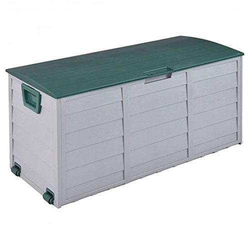 MD Group Outdoor Storage Box 70 Gallon Durable Plastic Waterproof Lockable Camping Box by MD Group