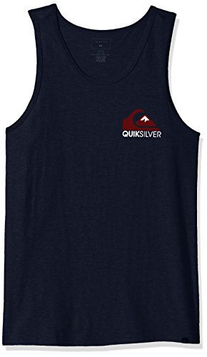 Quiksilver Men's Mountain Wave Tank T-Shirt, Navy Blazer, (Quiksilver Mens Mountain Wave)