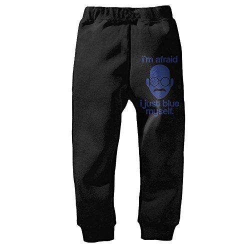 Price comparison product image Diarchioness Custom Kids I Blue Myself Close Up Long Sweatpants Pure Cotton Black 3 Toddler
