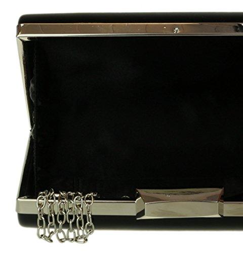 Hard Girly Girly Clutch Case Glossy HandBags Black HandBags Bag IFpqwwZ