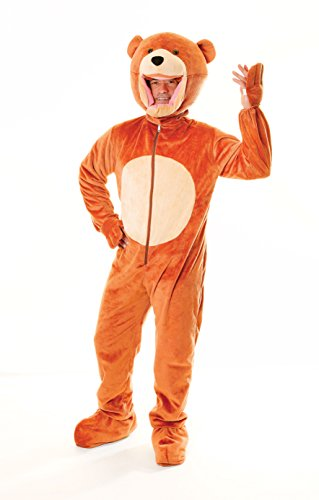 Big Head Animal Costume Uk (Adults Big Head Teddy Bear Costume)