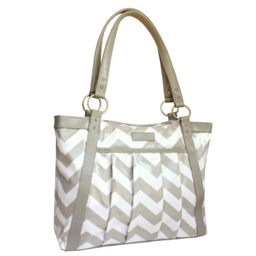 kailo-chic-casual-154-laptop-tote-gray-and-white-chevron