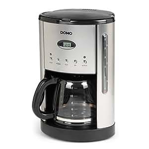 Domo DO413KT, LCD, Negro, Acero inoxidable - Máquina de café