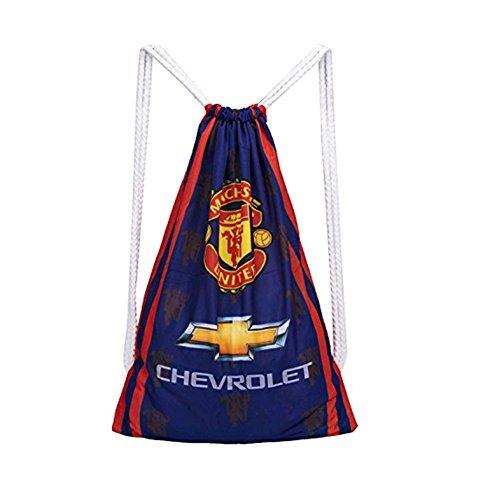 Manchester United Cinch Bag Sack Backpack Soccer Drawstring Sports Ball Bag Shoulder Strap Practice - Manchester United Bags