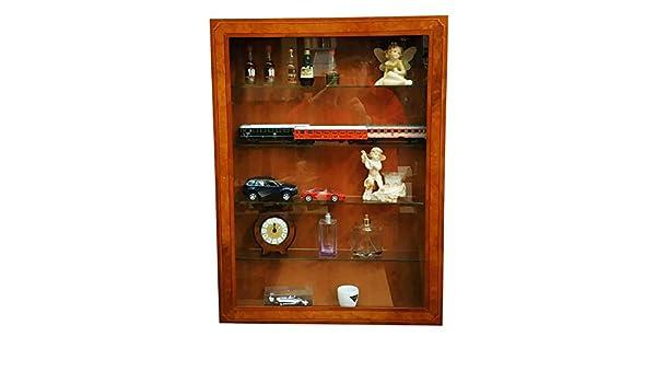Muebles Selli Vitrina 5 estantes Color Cereza: Amazon.es: Hogar