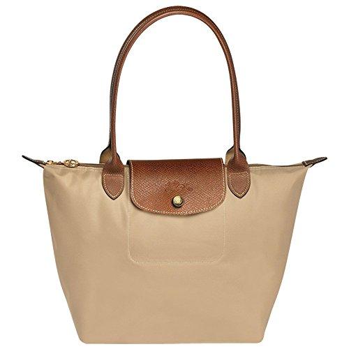 Longchamp Le Pliage Shoulder Tote Bag (L, beige)